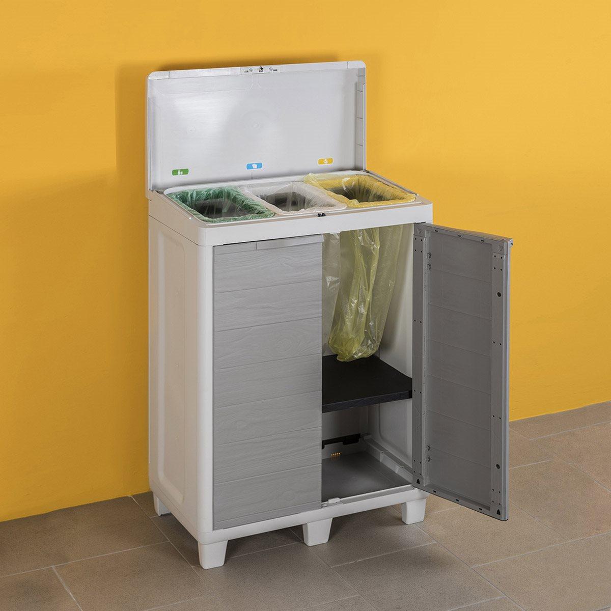 Mobile Proteggi Lavatrice Da Esterno woody's armadio in resina per raccolta differenziata